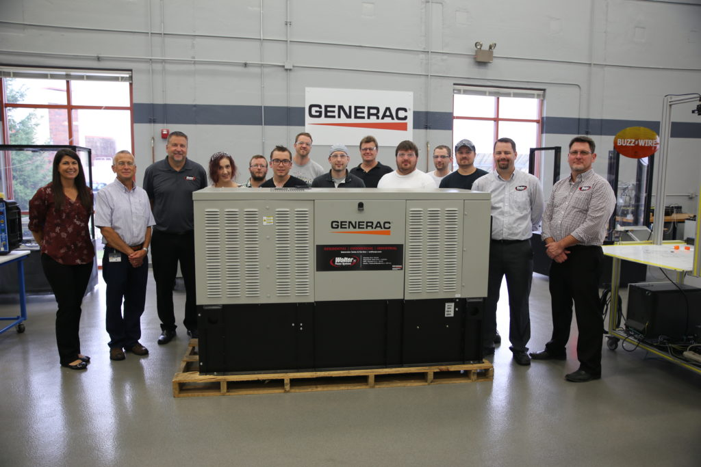 Wolter Power Systems generator donation